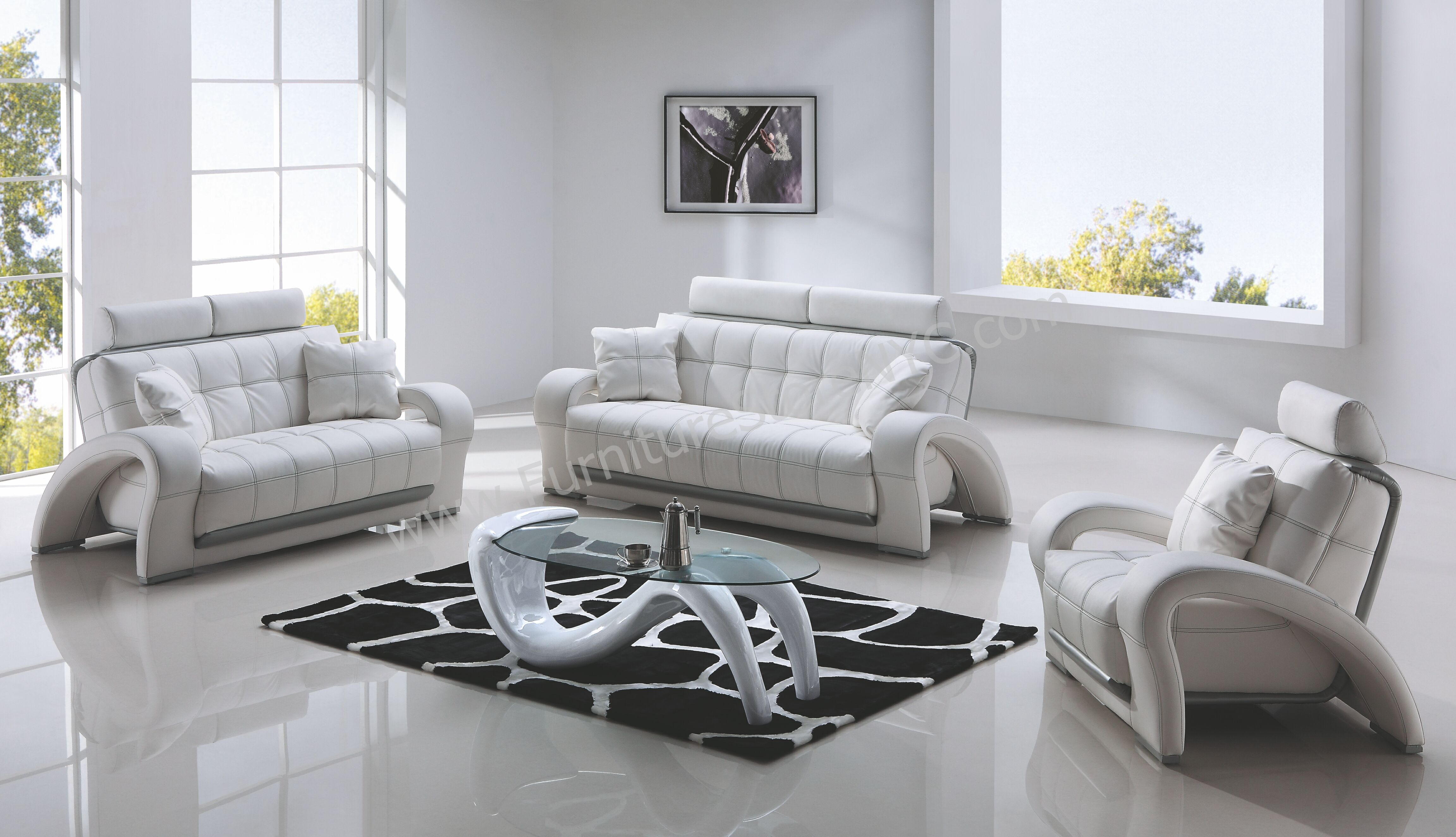 Modern Living Room Sets Contemporary Copy Leather