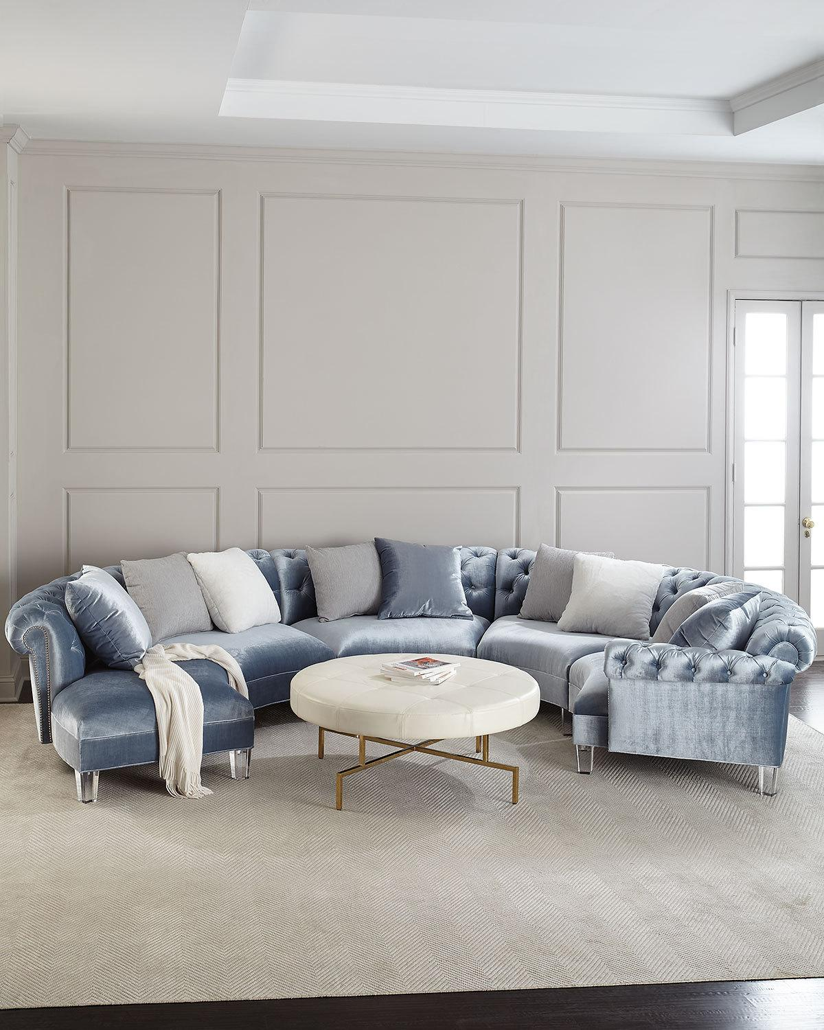 Haute HouseVarianne Curved Sectional Sofa