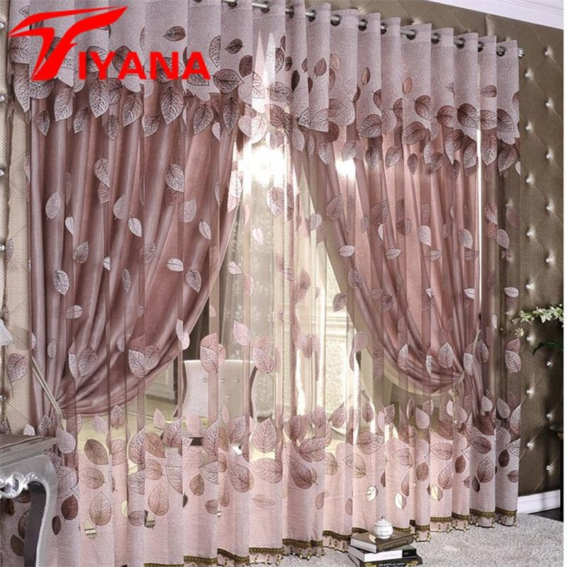 2019 Luxury Modern Leaves Designer Curtain Tulle Window Sheer Curtain For  Living Room Bedroom Kitchen Window Screening Panel P347Z30 From Herbertw,