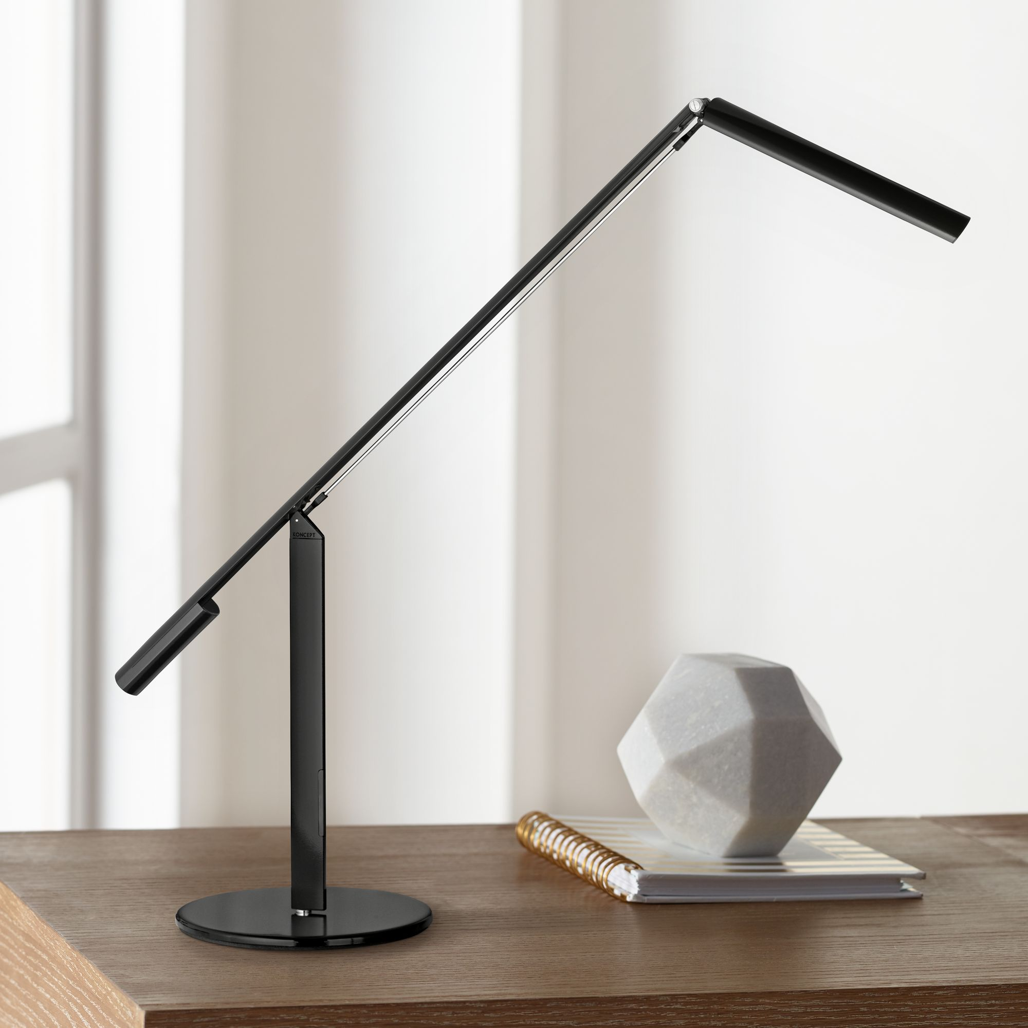Gen 3 Equo Daylight LED Black Desk Lamp with Touch Dimmer