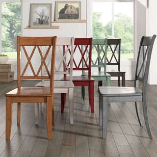 Shop Eleanor Double X Back Wood Dining Chair (Set of 2) by iNSPIRE Q  Classic - Free Shipping Today - Overstock - 13469140