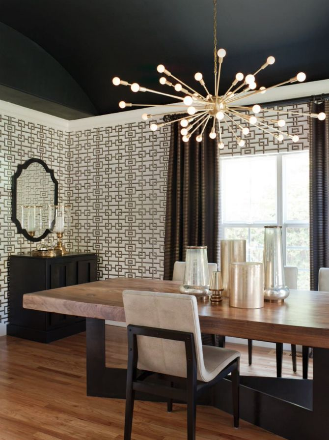 Get Inspired By This Board ! contemporarylighting contemporaryhomedecor  contemporaryhome Living Comedor, Dark Ceiling, Dining
