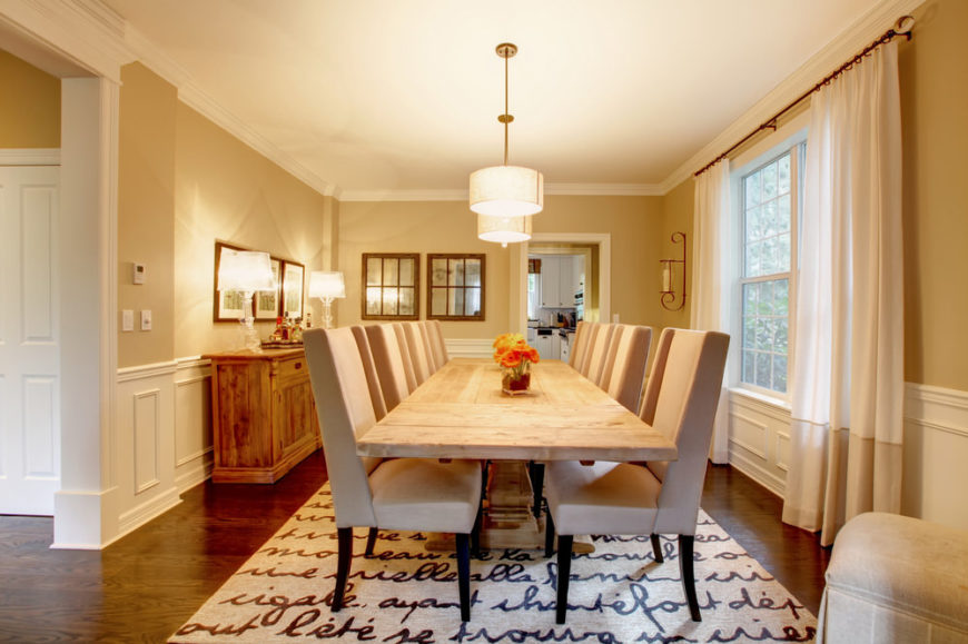 Dining room with area rug