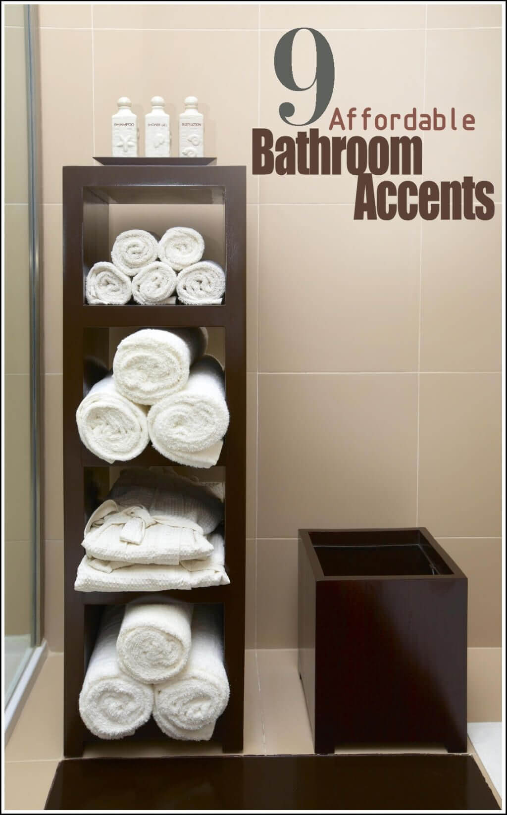 Uptown Classic Wooden Block Style Towel Shelves