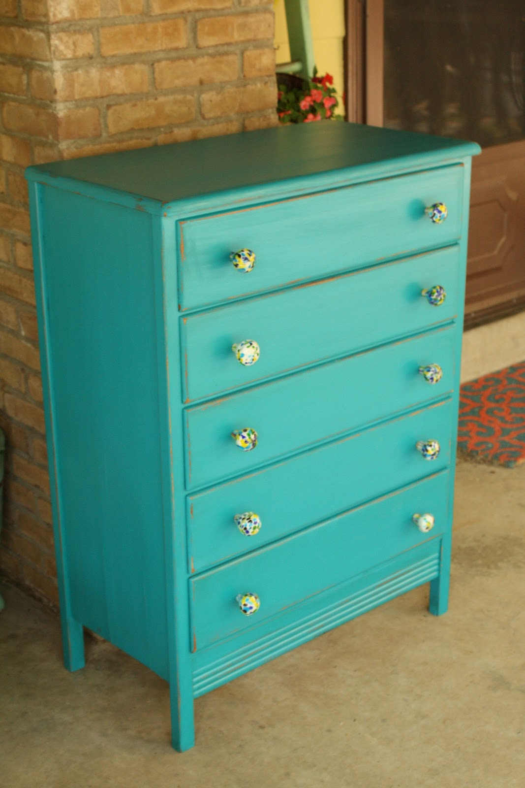 Blue Dresser Knobs