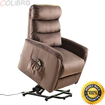 COLIBROX--Electric Lift Chair Recliner Reclining Chair Remote Living Room  Furniture New. lift
