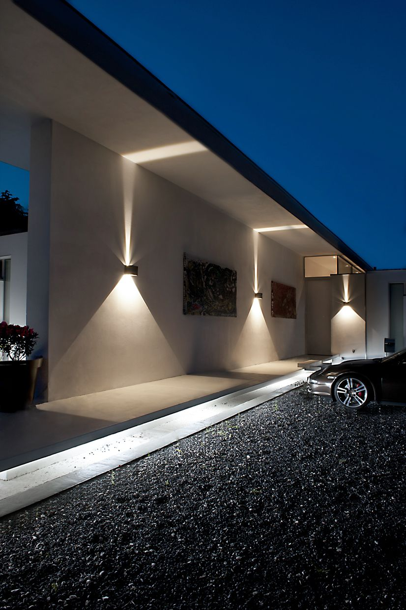 CUBE LED Outdoor wall lamp from LIGHT-POINT AS Design: Ronni Gol www.light -point.dk