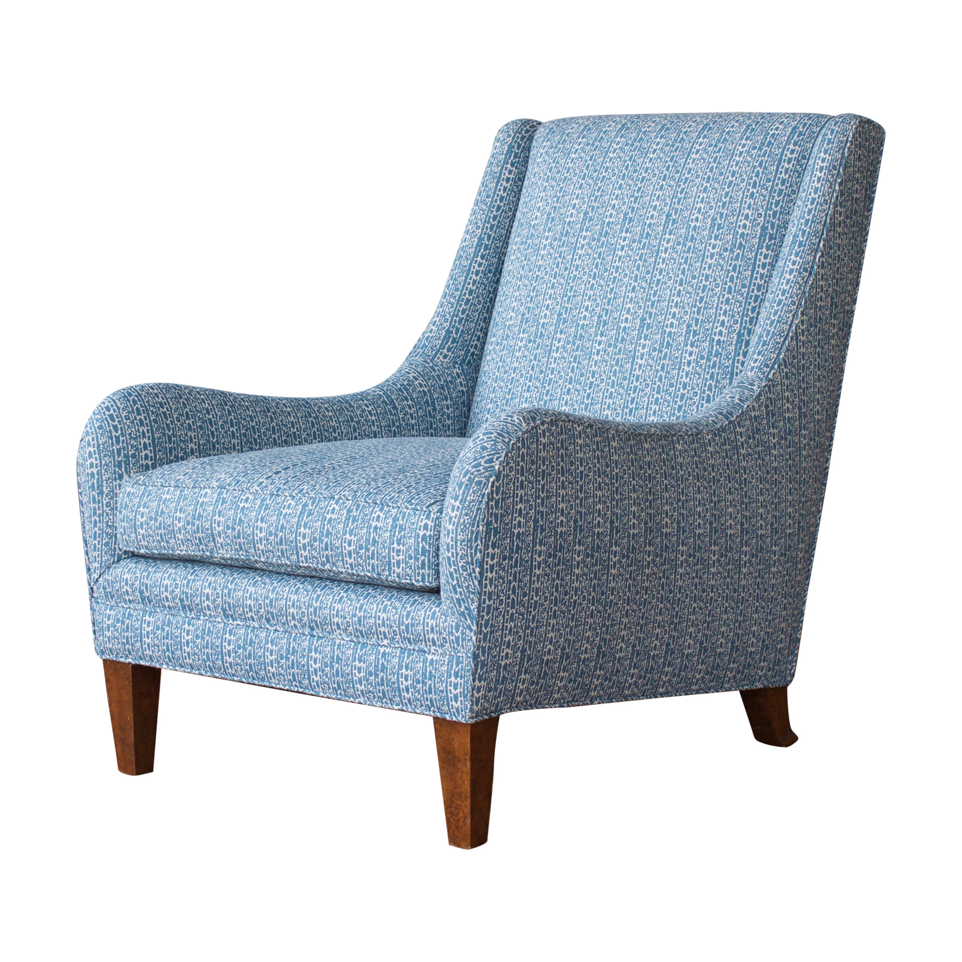 Zoom image Cole Armchair Traditional, Transitional, MidCentury Modern,  Wood, Upholstery Fabric, Armchairs Club