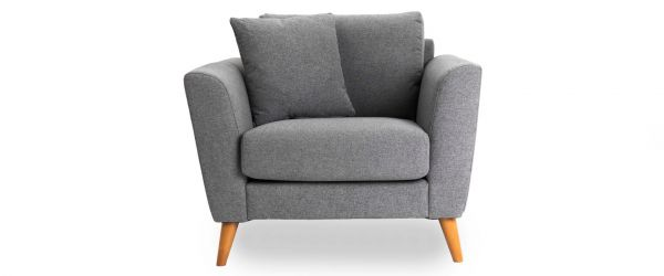 Kendall Grey Fabric Armchair