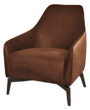 Zoom image Celine Armchair Contemporary, Transitional, MidCentury Modern,  Wood, Upholstery Fabric, Armchairs Club