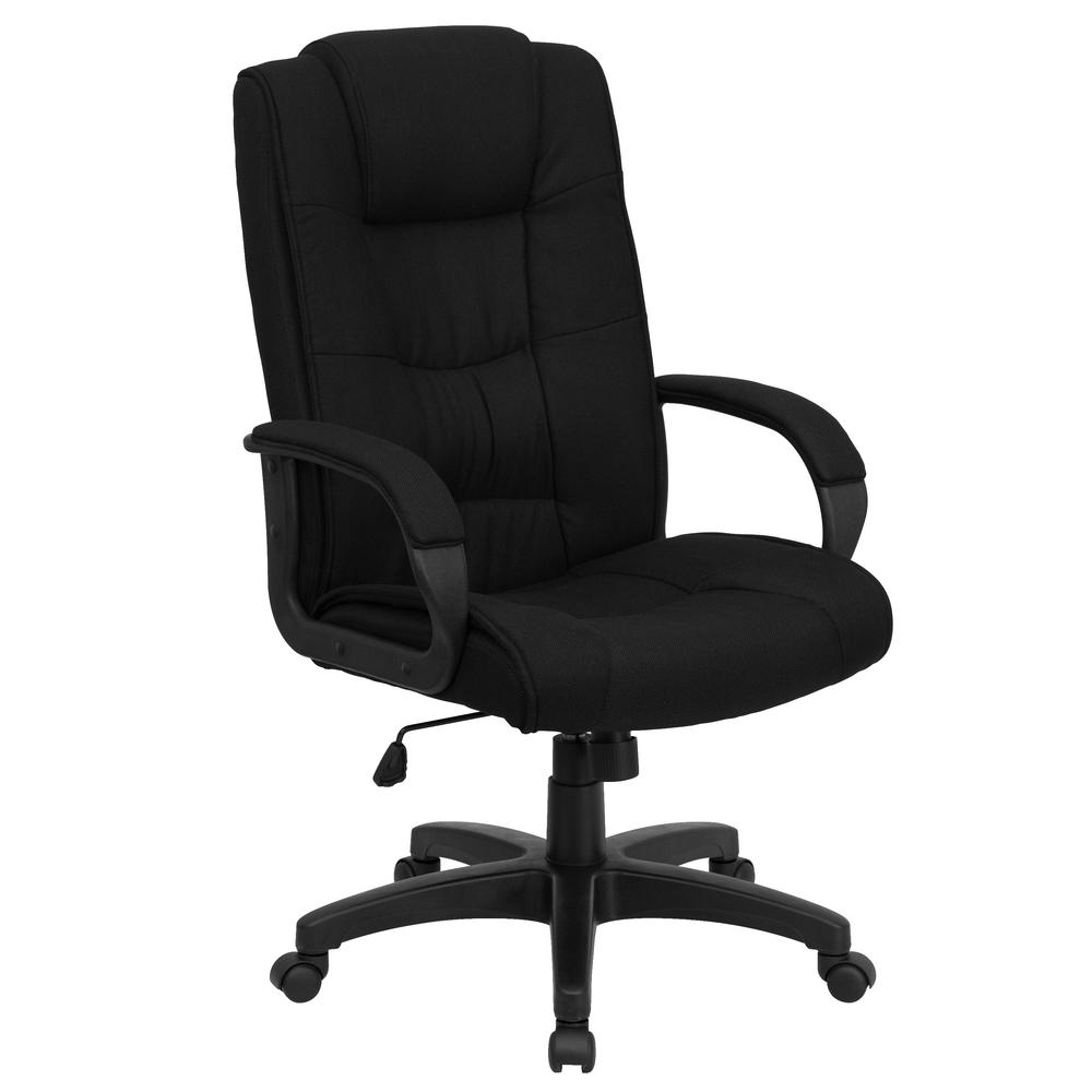 Flash Furniture High Back Black Fabric Executive Swivel Office Chair-GO5301BBK  - The Home Depot