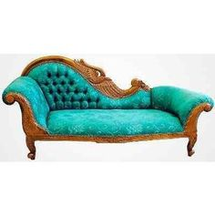 Turquoise Victorian fainting couch. Victorian Sofa, Victorian Furniture,  Turquoise Couch, Turquoise Furniture