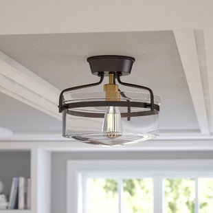 Bedroom Lighting Semi Flush | Wayfair