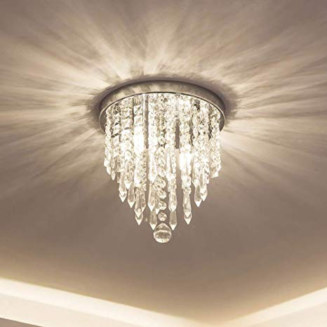 lifeholder Mini Chandelier, Crystal Chandelier Lighting, 2 Lights