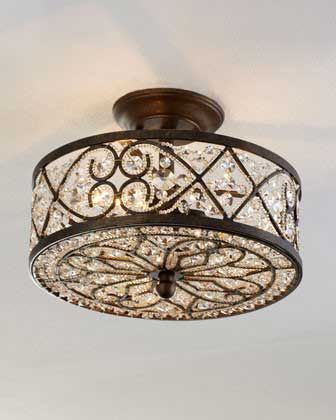 12 Beautiful Flush Mount Ceiling Lights | Light the Way | Pinterest