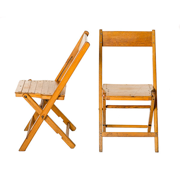 VINTAGE WOOD FOLDING CHAIR RENTAL: A LA CRATE Rentals | Wedding