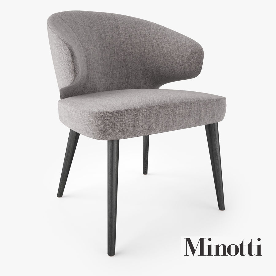 Minotti Aston Dining Armchair royalty-free 3d model - Preview no. 1
