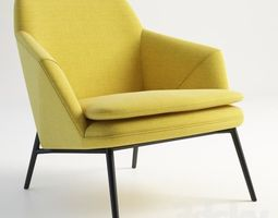 yellow armchair 3D. Free
