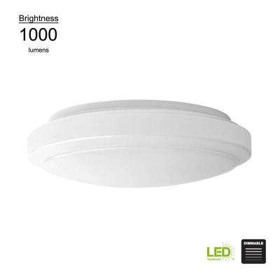 Round - Integrated LED - Flush Mount Lights - Lighting - The Home Depot