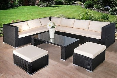 8 Seater Large Corner Sofa Rattan Garden Furniture Set