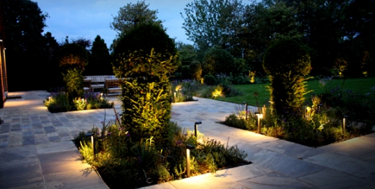 Esher – New House Build Garden Lighting Project