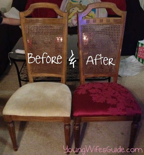 Before and After-Recover Old Chairs