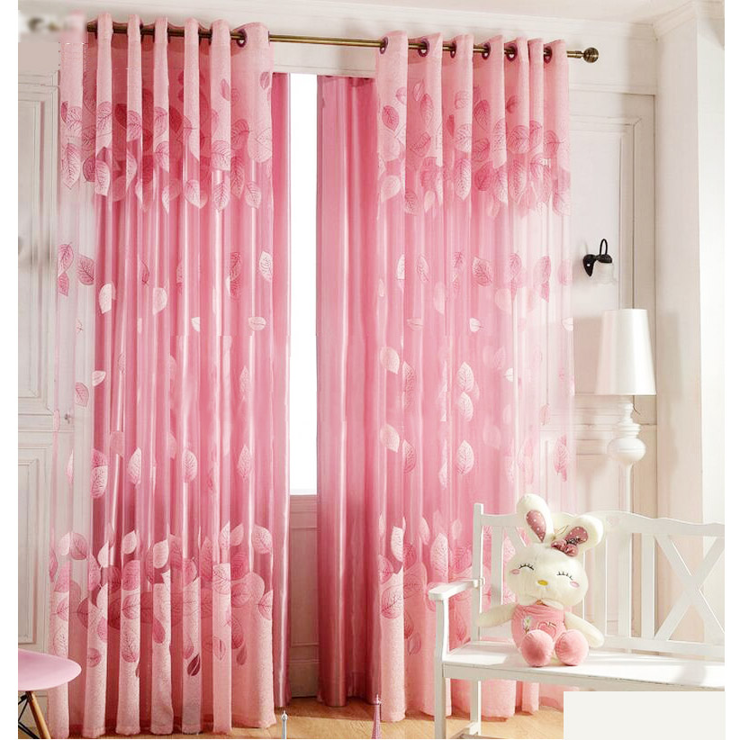 Pink Sheer Curtains For Girls Room