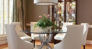 Round glass dining room table sets