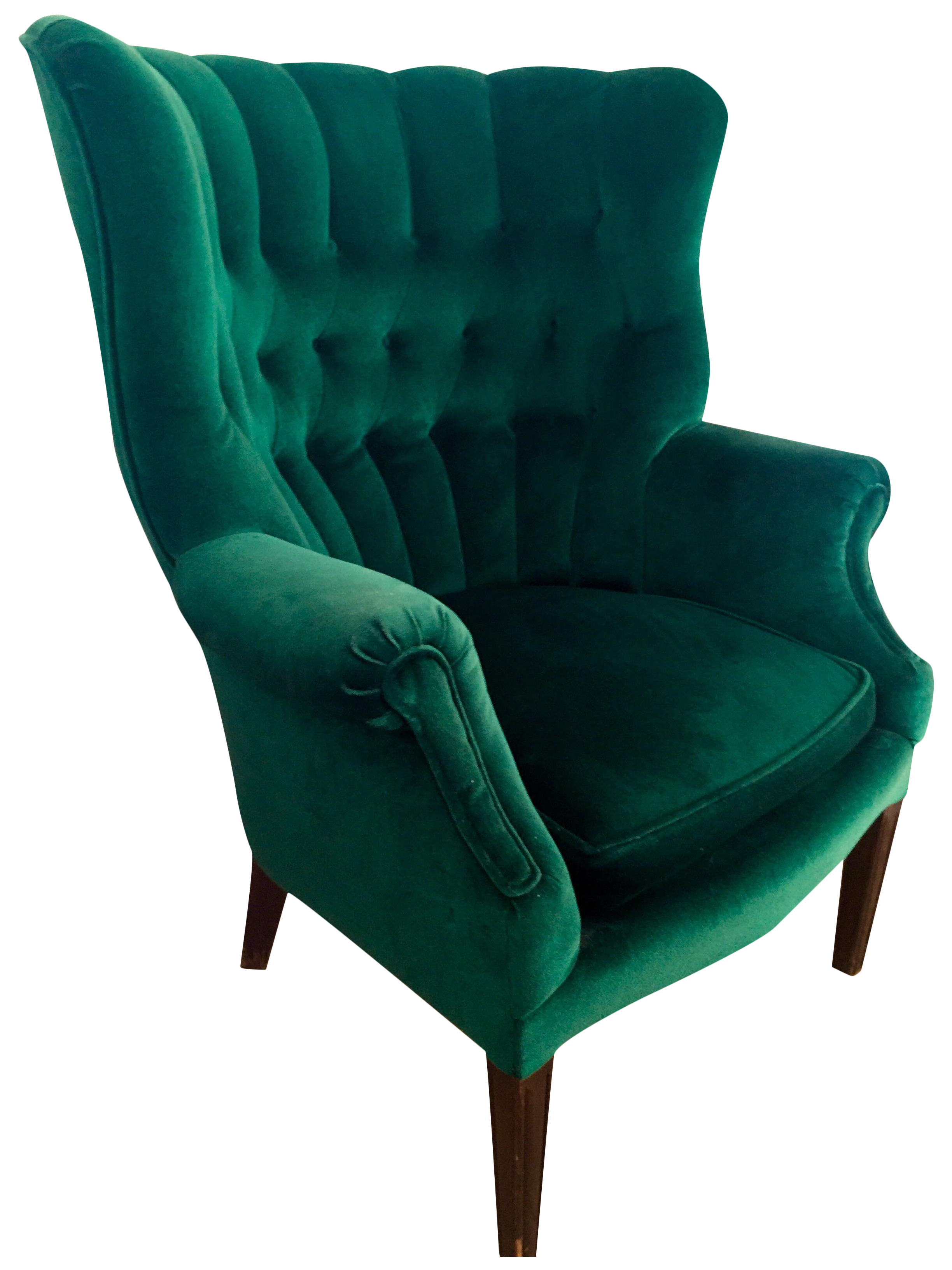 Vintage Emerald Green Armchair For Sale