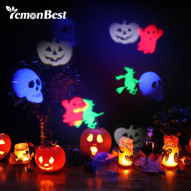 LED Projector Stage Lamp RGB disco Image Projection Lights Halloween