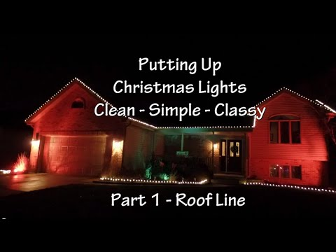 Installing Christmas Lights on Your Roof Line And House - YouTube