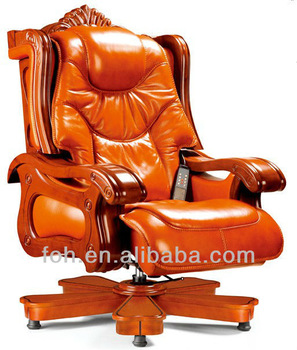 High End Luxury Leather CEO BOSS Home Office Chair, Executive Massage  Leather Chair (FOHA