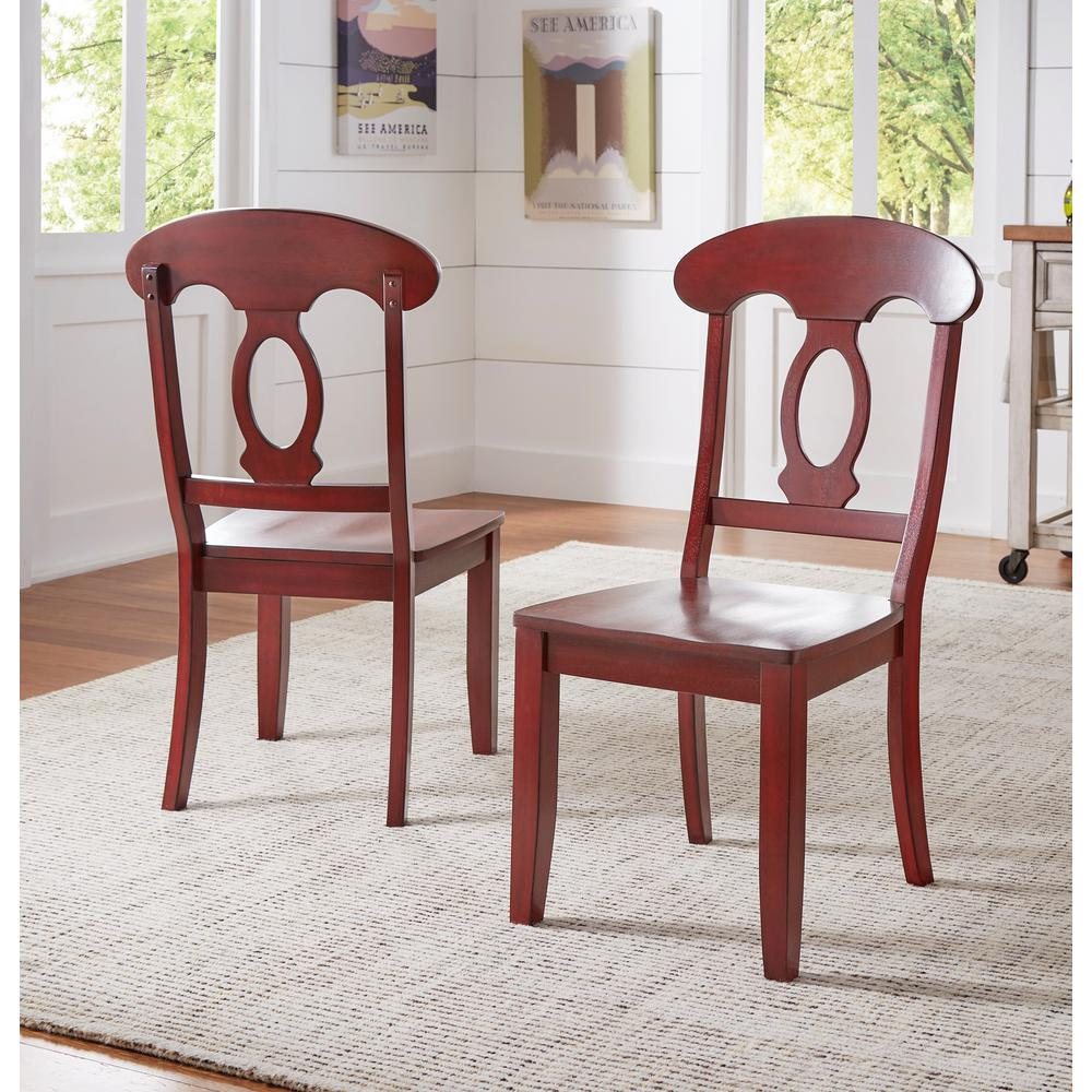 HomeSullivan Sawyer Rich Berry Wood Napoleon-Back Dining Chair (Set of  2)-40530C4-RD2P - The Home Depot