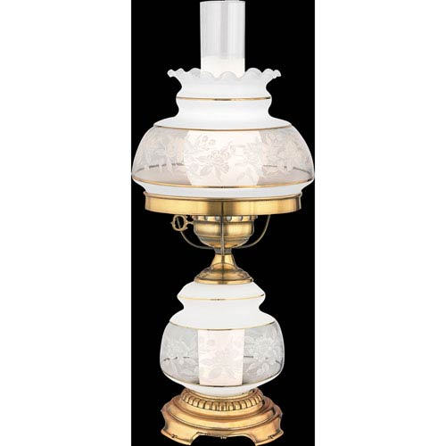Quoizel Satin Lace Small Hurricane Lamp