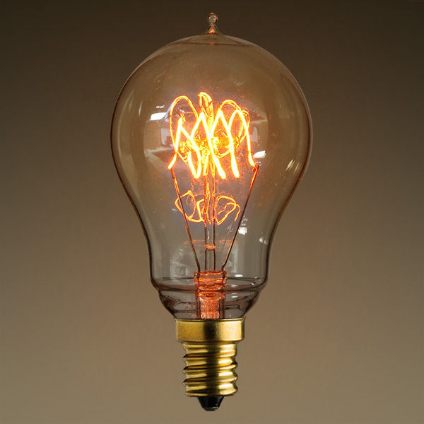 25 Watt - Vintage Light Bulb - 3.5 in. Length - Amber Tinted