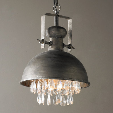 Industrial Pendant Lighting | Pulley & Cage Designs - Shades of Light