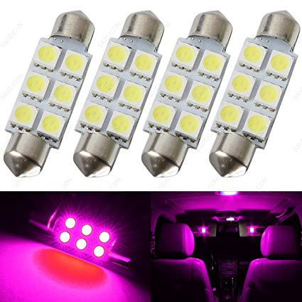 Amazon.com: SAWE - 44MM 6-SMD 5050 Festoon Dome Map Interior LED
