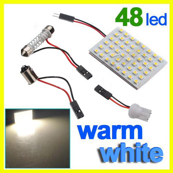 New Car Interior 48 SMD LED Bulb Lamp Light Panel White