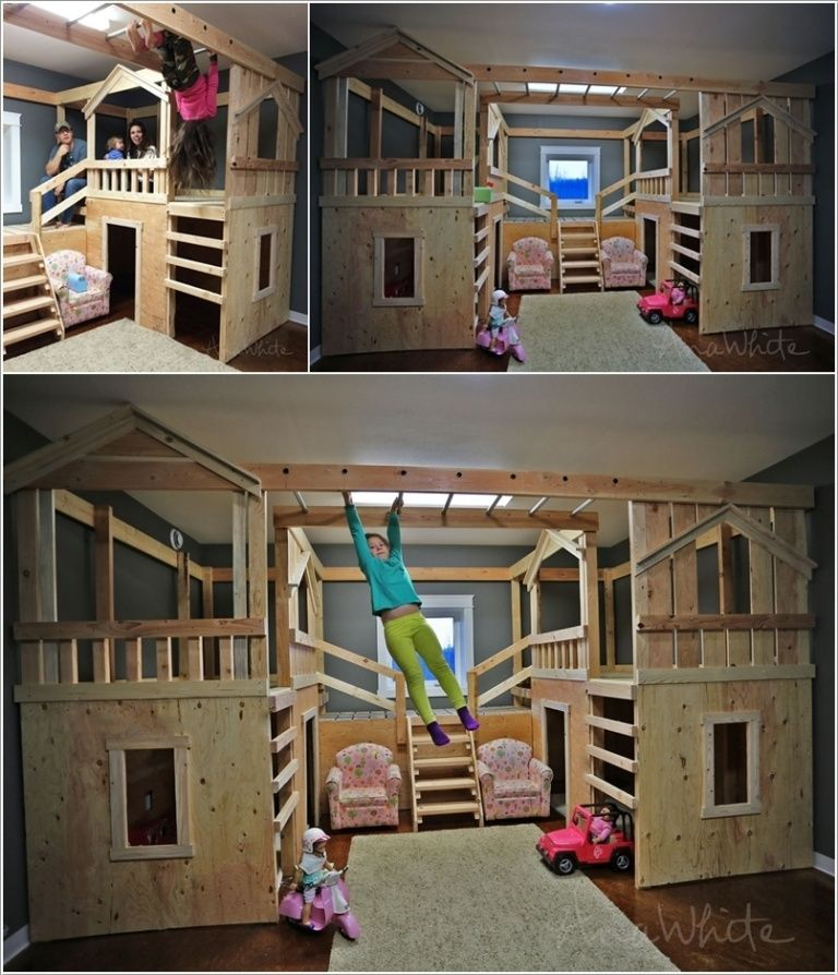 10 Cool DIY Bunk Bed Ideas for Kids: how to be the coolest parent ever,  though odds are slim that I would build this.