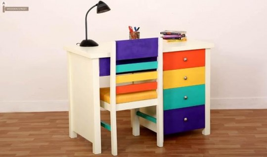 Pixie kids study table with drawers