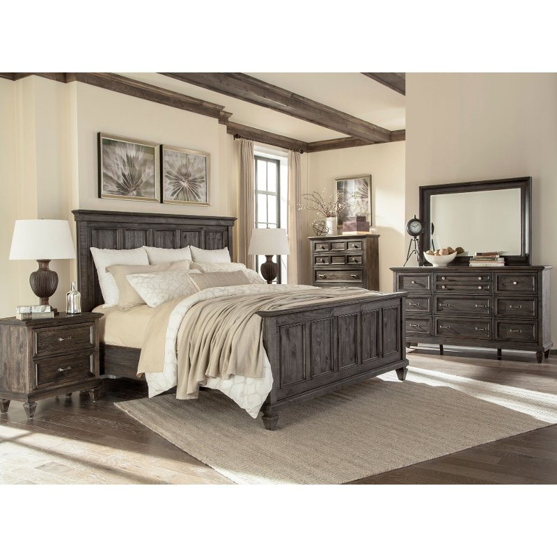 Charcoal Gray 4 Piece King Bedroom Set - Calistoga | RC Willey Furniture  Store