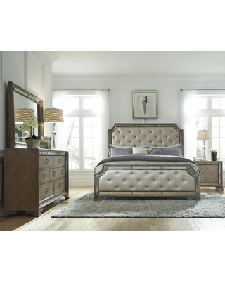 Mariah King-size Bed Frame (King Bed), Beige