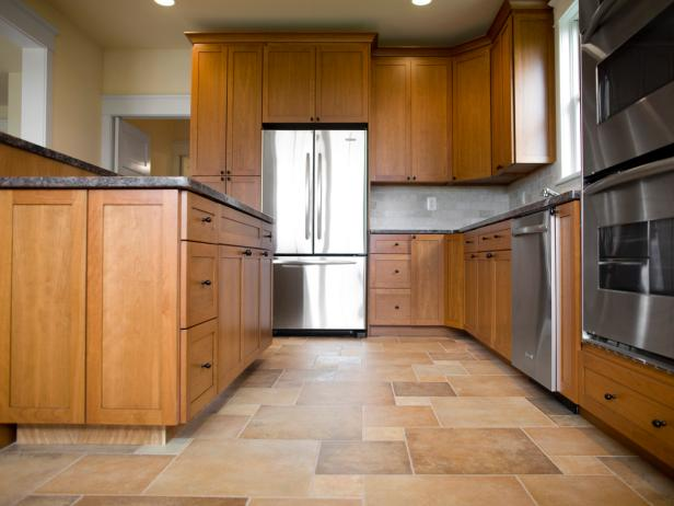 Spacious Kitchen with Wood and Tile