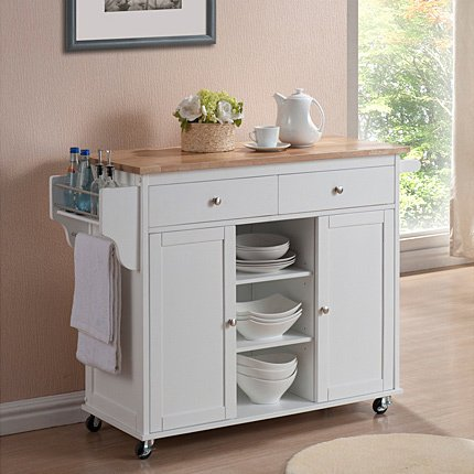 Shop Copper Grove Dunraven White Modern Kitchen Island Cart - Free Shipping  Today - Overstock - 20543339