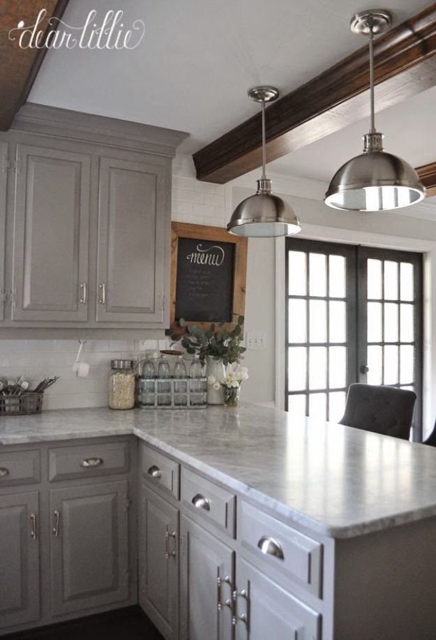 Kitchen Makeover #kitchenmakeover Gray Kitchen Cabinets, Kitchen Cabinets  Painted Before And After, Kitchens