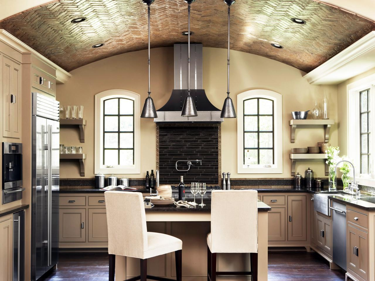 Old-World Kitchen with Barrel Ceiling