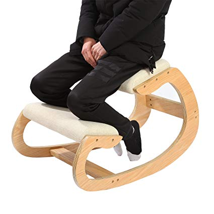 Ergonomic Kneeling Chair for Upright Posture - Rocking Chair Knee Stool for  Home, Office &