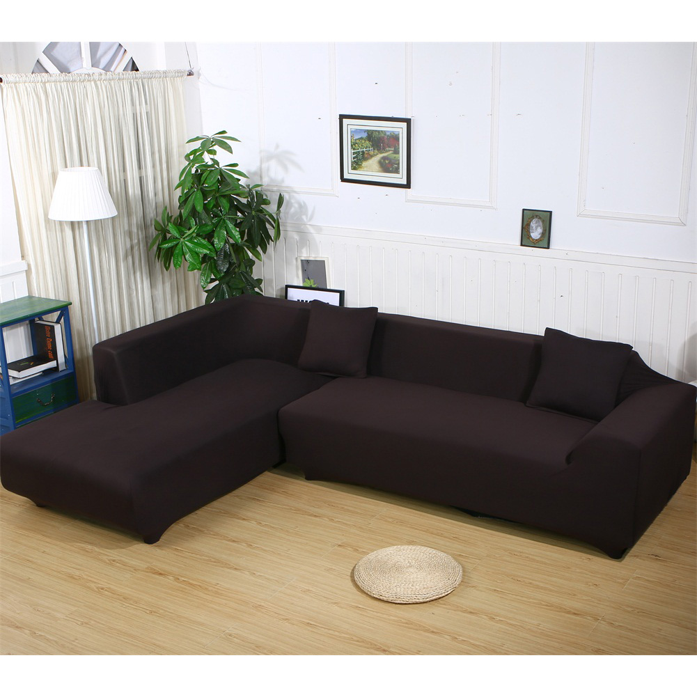 Sofa Covers L Shape,2pcs Polyester Fabric Stretch Slipcovers for Sectional  sofa - Traveller Location