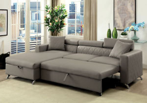 Image is loading Dayna-Sectional-Sofa-L-Shaped-Couch-Pull-Out-