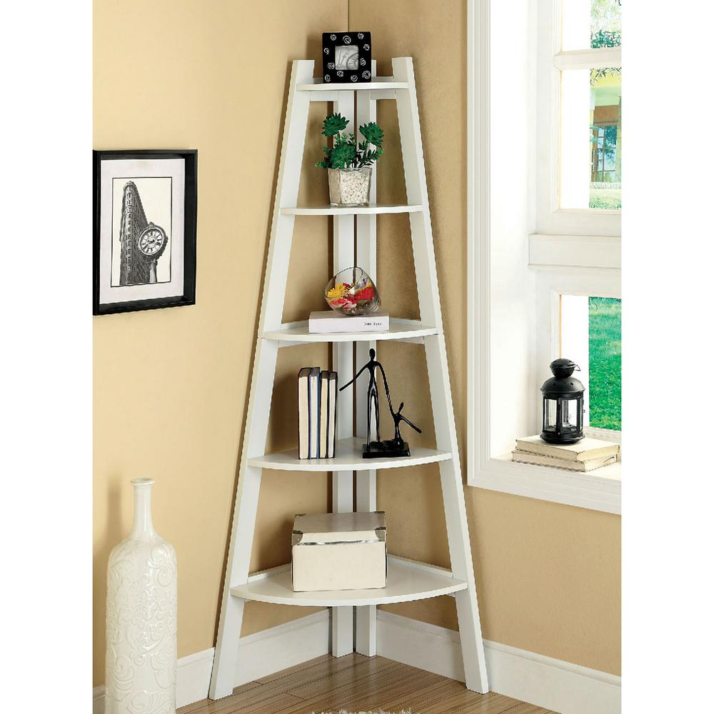 Venetian Worldwide Lyss White Ladder Bookshelf